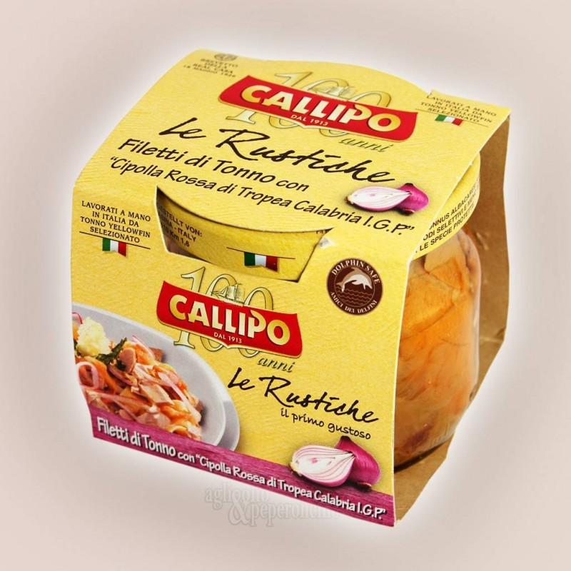 Filetti di tonno con cipolla rossa di Tropea Calabria IGP Le Rustiche Callipo