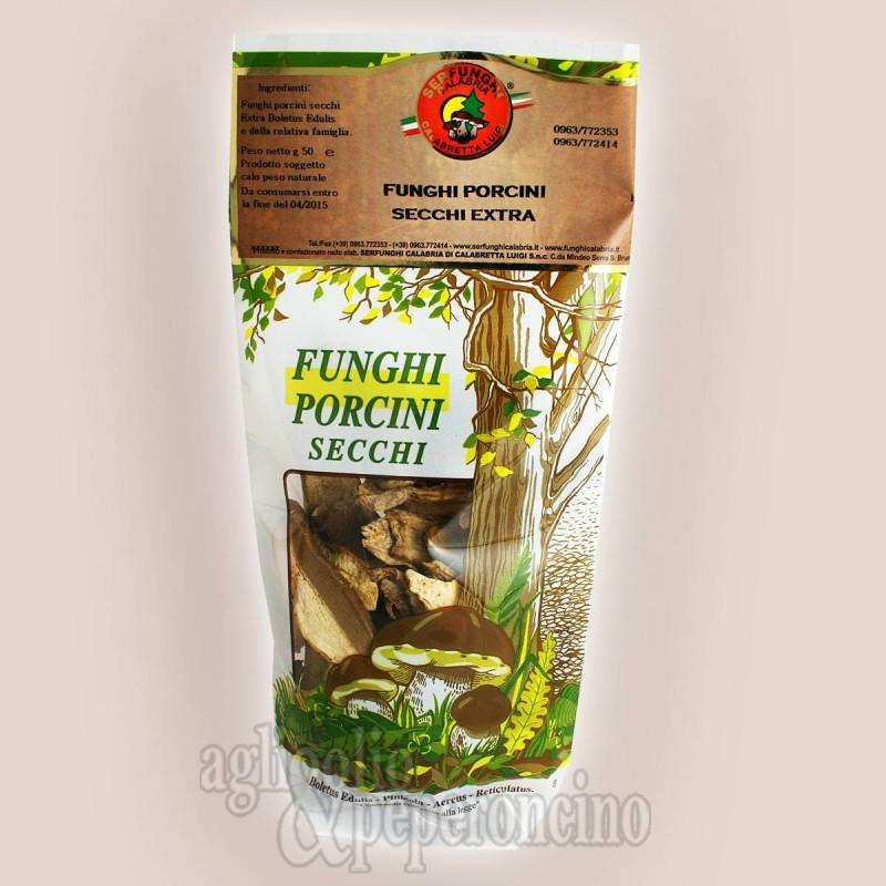 Funghi porcini secchi extra di Serra san Bruno in busta da 50 gr