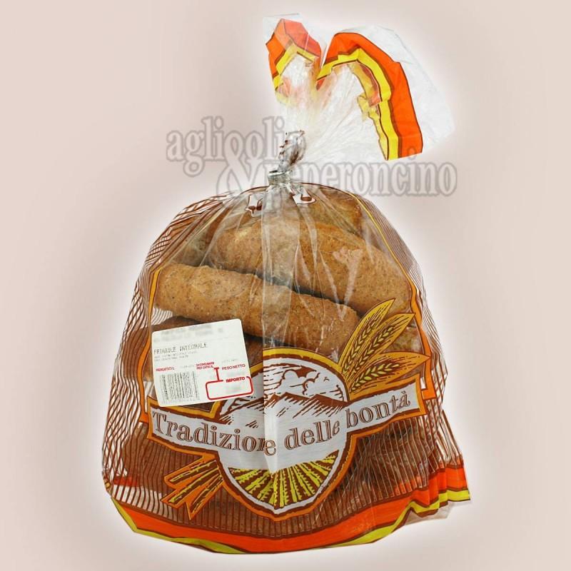 Pane biscotto friabile integrale calabrese