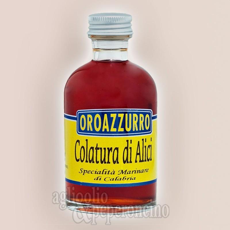 Colatura di alici Oroazzurro - Specialità calabrese in bottiglietta da 140 ml