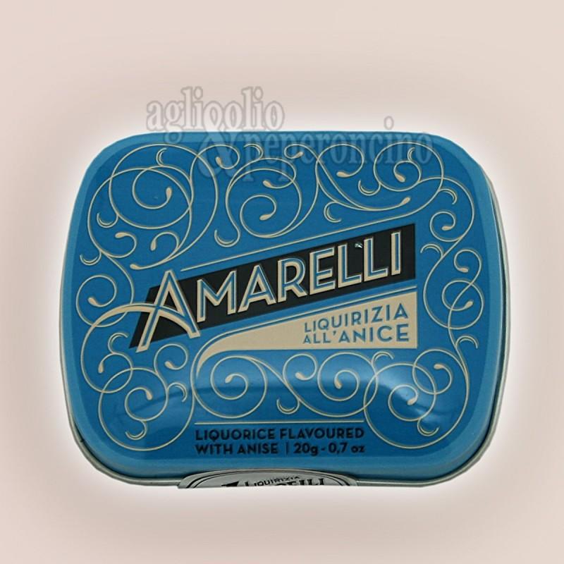 Liquirizia Amarelli Blue Sky in lattina da 40g - Rombetti all'anice di liquirizia calabrese