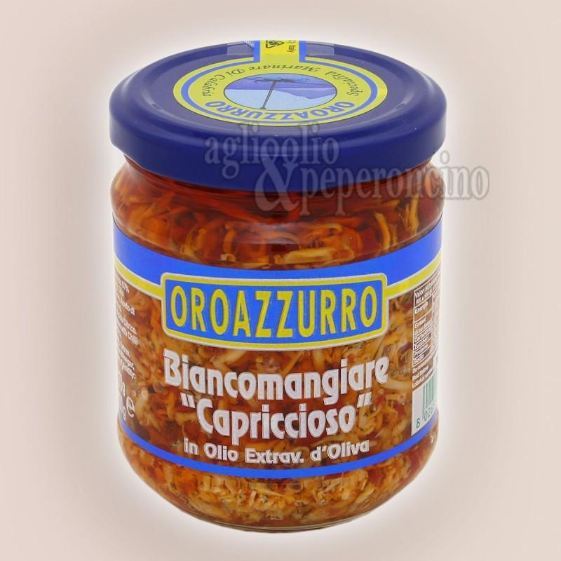 Biancomangiare capriccioso in Olio extravergine d'oliva Oroazzurro- Capriccio di pesce - Specialità ittica calabrese