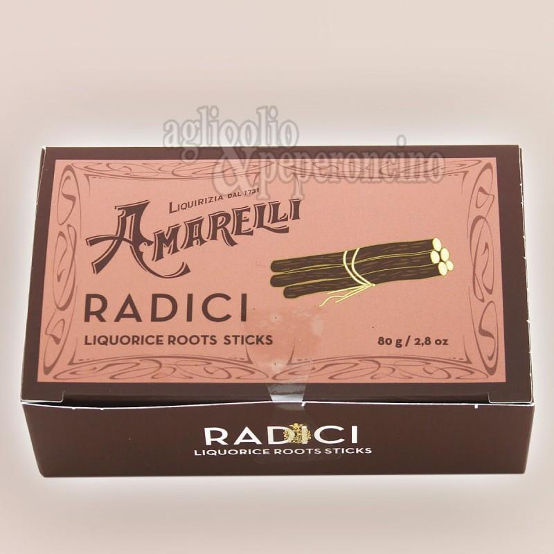 Radici di liquirizia Amarelli in scatola da 80g - Liquirizia calabrese