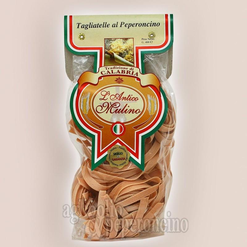 Tagliatelle al peperoncino 500 gr - Pasta artigianale calabrese