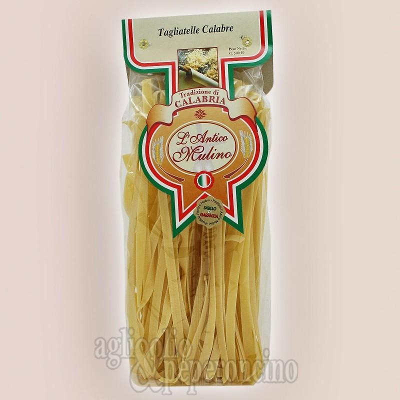 Tagliatelle calabre - L'Antico Mulino - Pasta artigianale calabrese