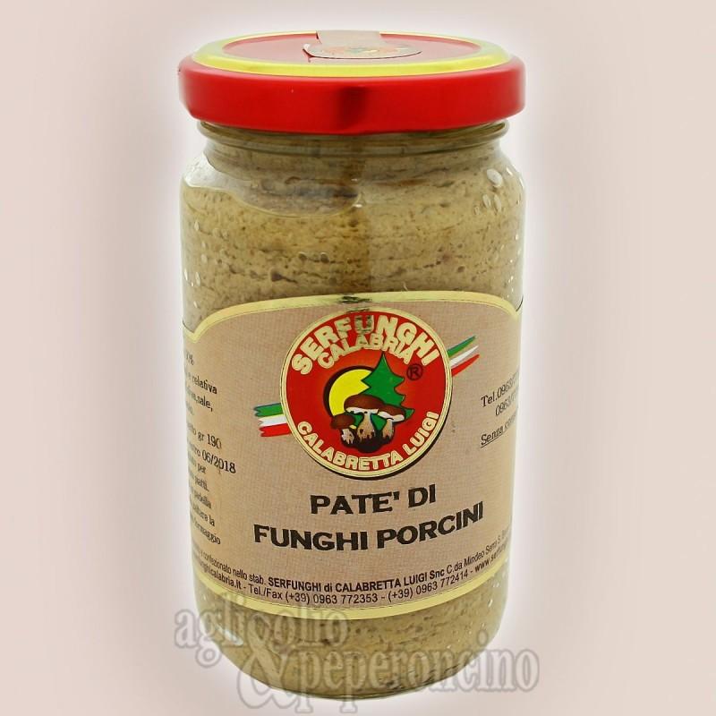 Patè di funghi porcini all'olio d'oliva - Vasetto da 190 grammi