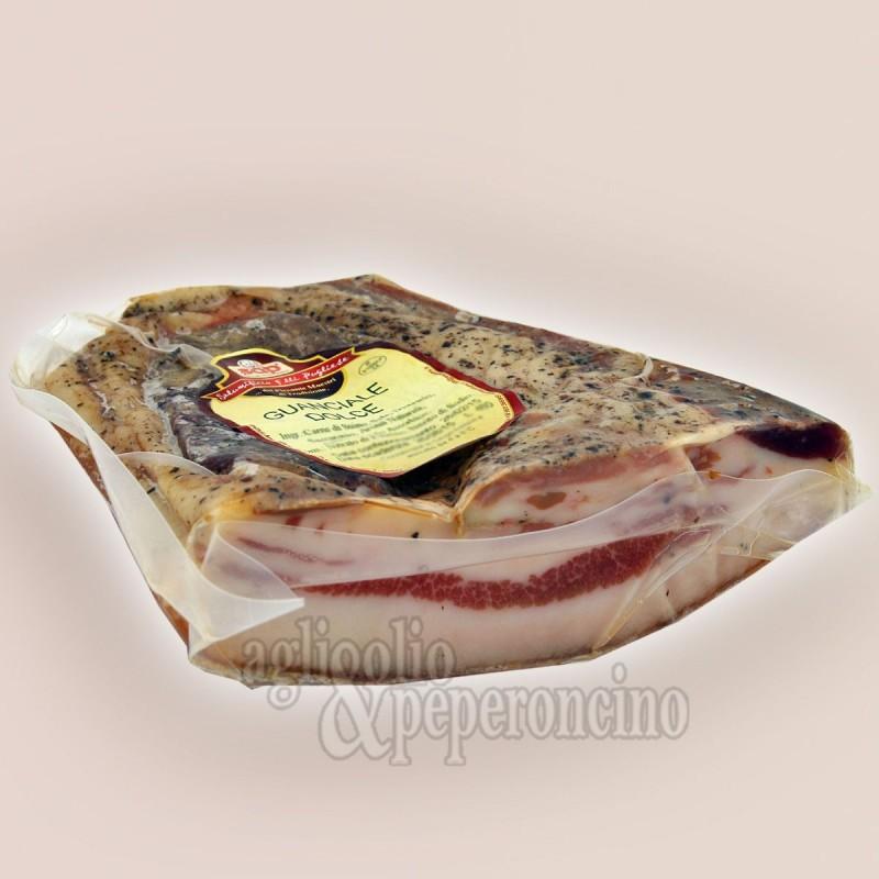 Guanciale calabrese di maiale - Stagionato sottovuoto
