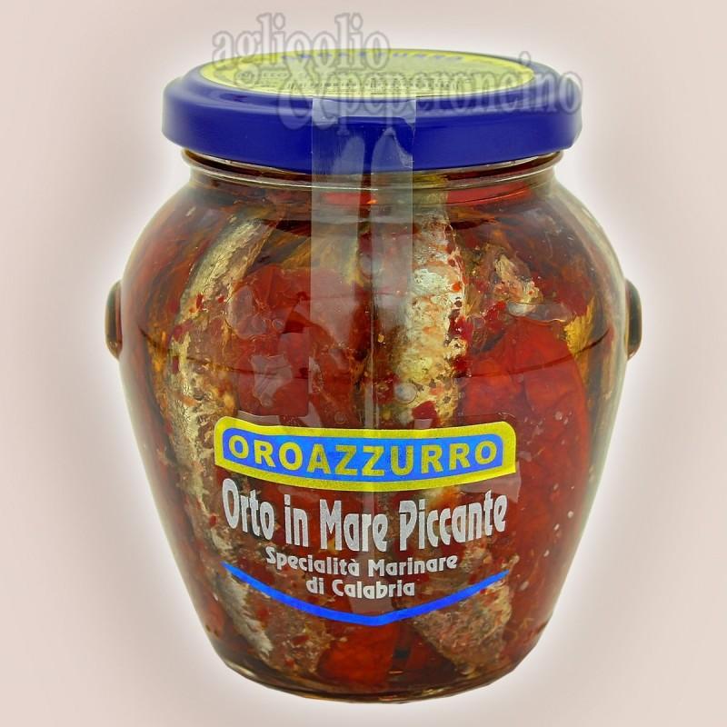 Orto in mare piccante - Alici e pomodori secchi con peperoncino piccante