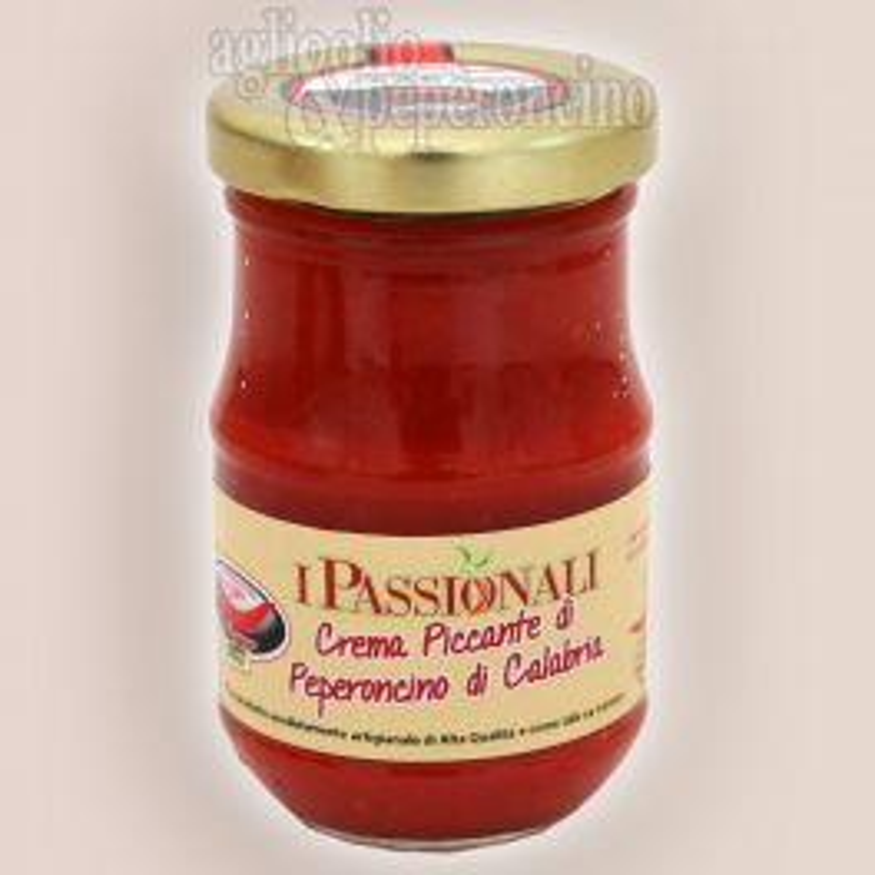Crema di peperoncino piccante calabrese vasetto 106 ml - 100% peperoncino di Calabria lavorato fresco