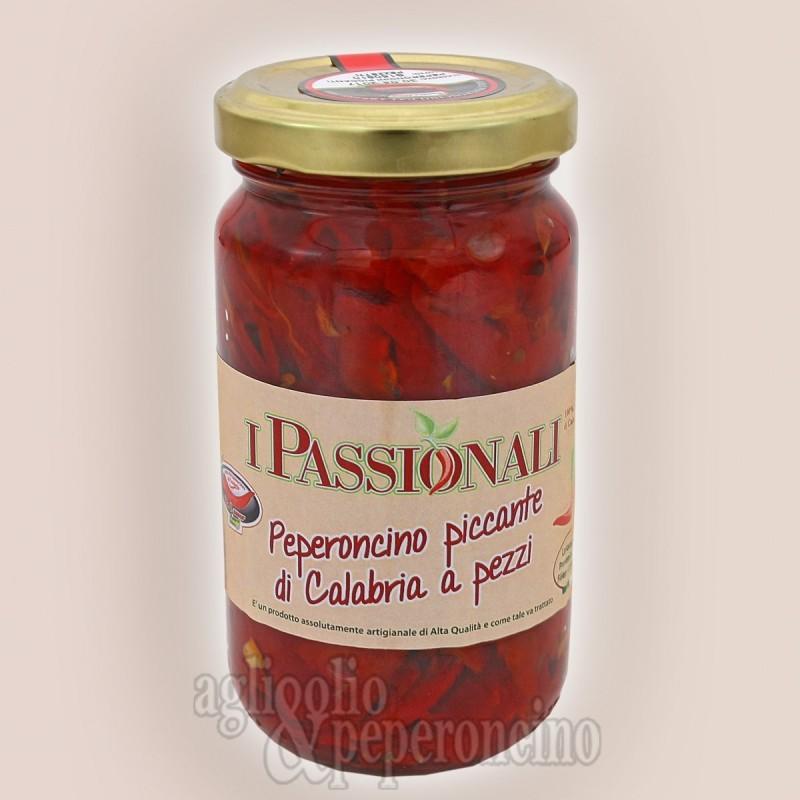 Peperoncino di Calabria sottolio a pezzi 212 ml - I Passionali - Calabrese 100%