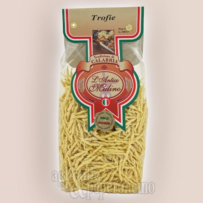Trofie artigianali - Pasta di grano duro prodotta in Calabria