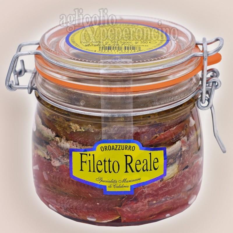 Filetto Reale di alici - Vasetto ermetico in olio extravergine d'oliva
