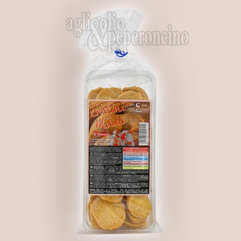 Crostini di mais al peperoncino - Biscottati e piccanti alla calabrese