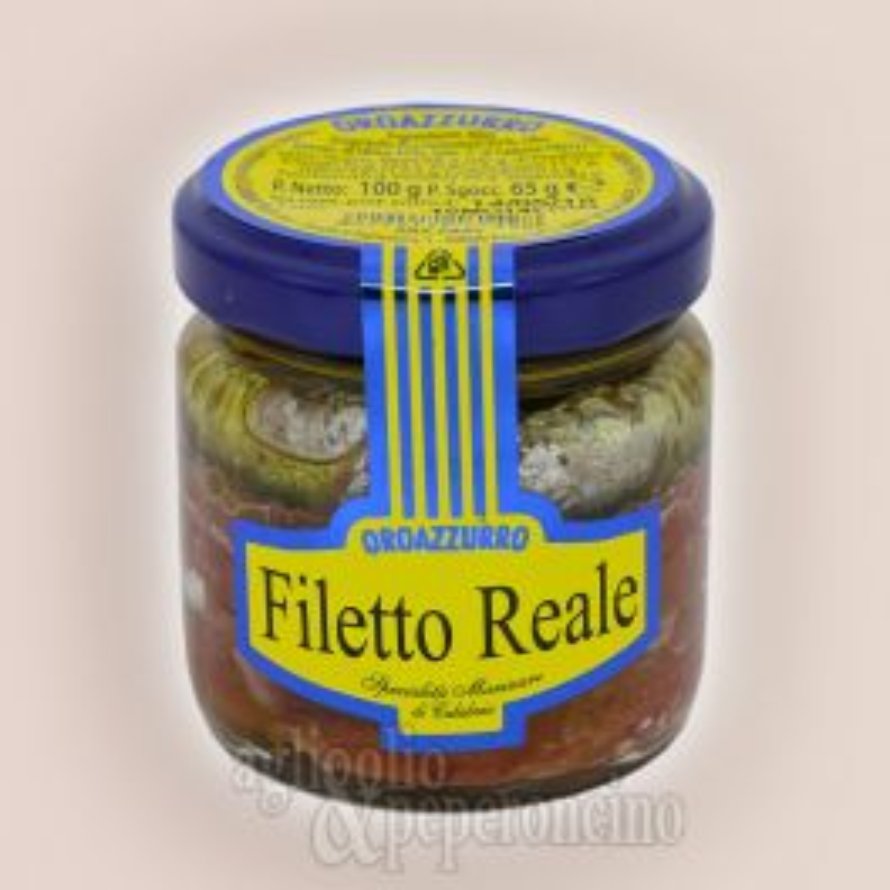 Filetto Reale in olio extravergine - Alici deliscate calabresi in vasetto da 100 grammi