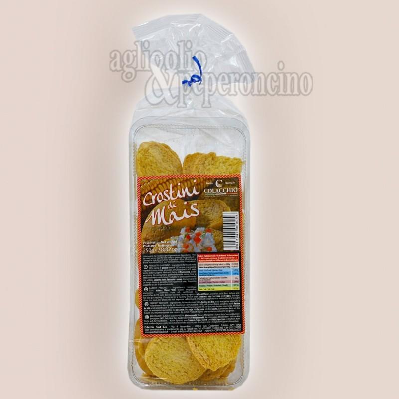 Crostini di mais 250 grammi - Panificio Biscottificio Colacchio