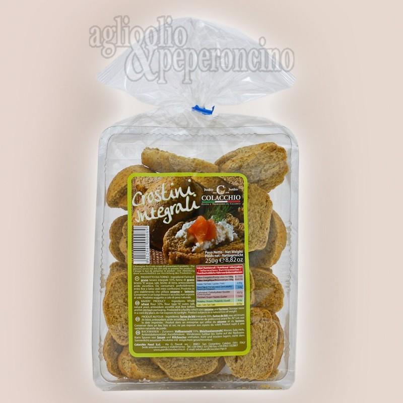Crostini integrali 250 grammi - Panificio Biscottificio Colacchio