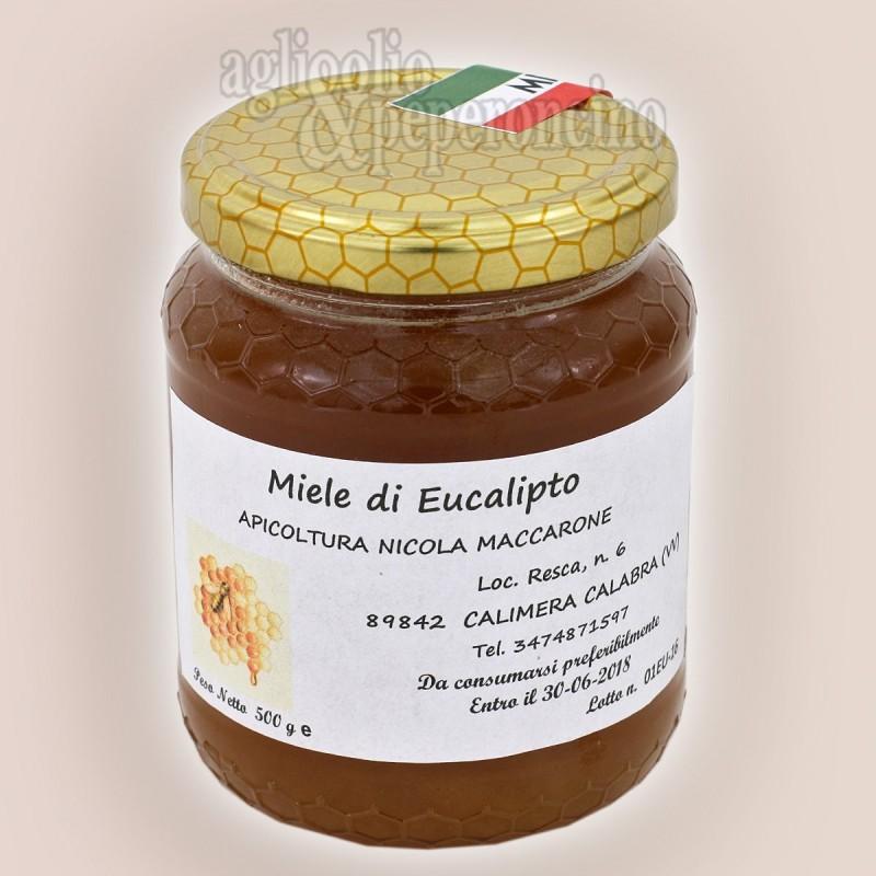 Miele di eucalipto in vasetto da 500 grammi - Da apicoltura calabrese