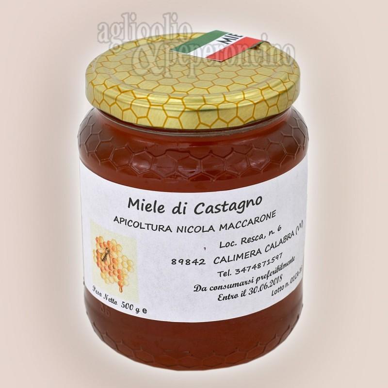 Miele di castagno in vasetto da 500 grammi - Da apicoltura calabrese
