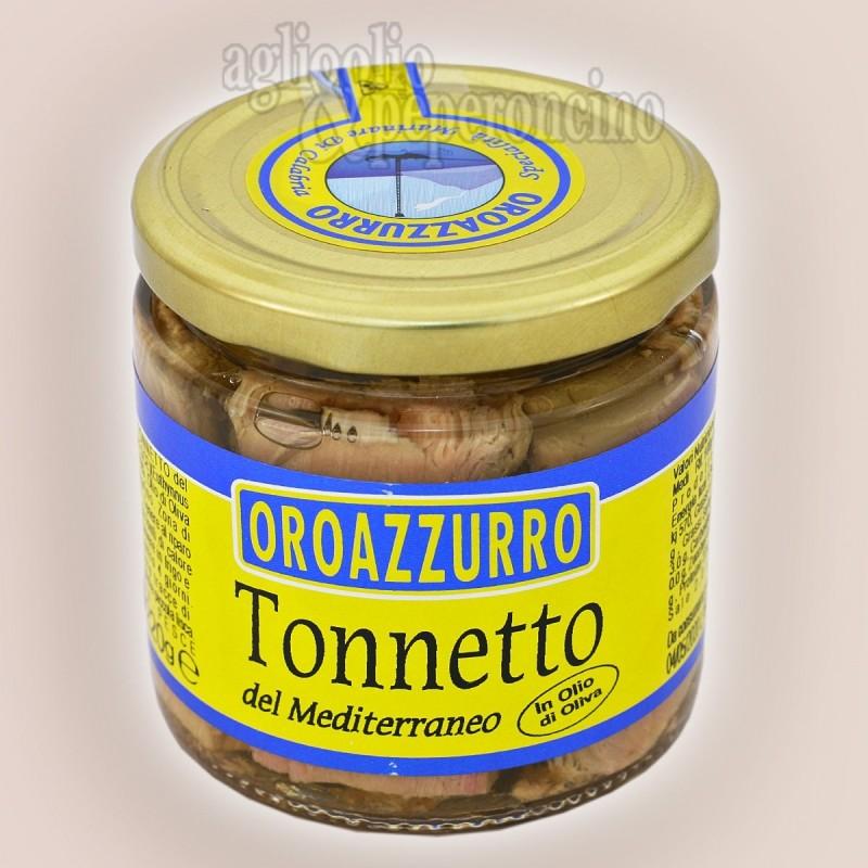 Tonnetto del Mediterraneo in olio d'oliva Oroazzurro - Pescato nel Mediterraneo e lavorato in Calabria