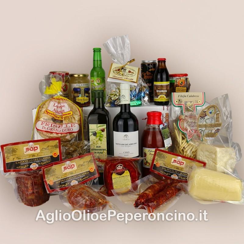 Gran Pacco di Calabria - Pacco regalo - Selezione di 20 prodotti tipici calabresi