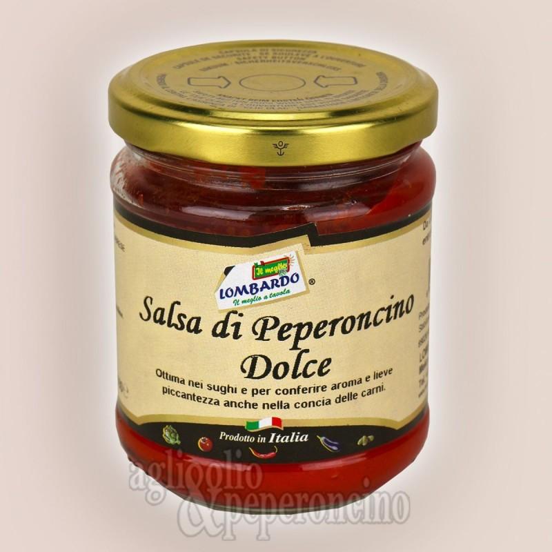 Salsa di peperoncino dolce per salumi e uso un cucina - Prodotto calabrese