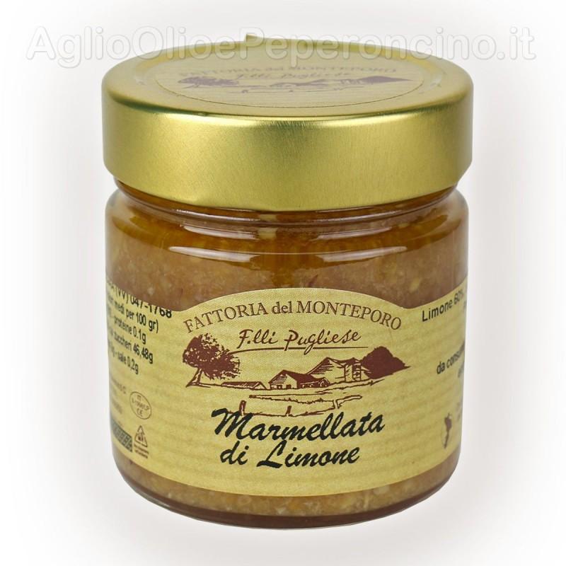 Marmellata di limoni prodotta in Calabria - Vasetto da 270 grammi