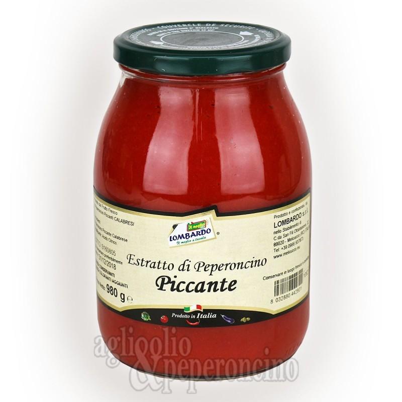 Estratto di peperoncino calabrese piccante - 980 grammi sottovetro